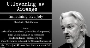 5. juni: Varslerdagen 2019: Utlevering av Julian Assange til USA – en trussel mot ytringsfriheten
