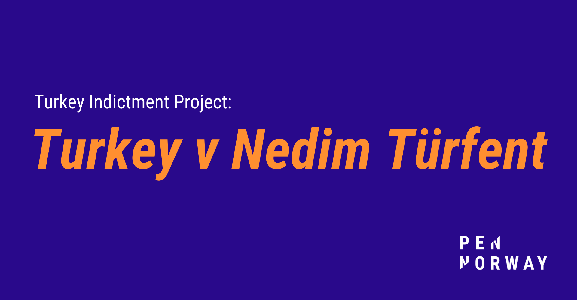 Turkey Indictment Project: Turkey v Nedim Türfent examined