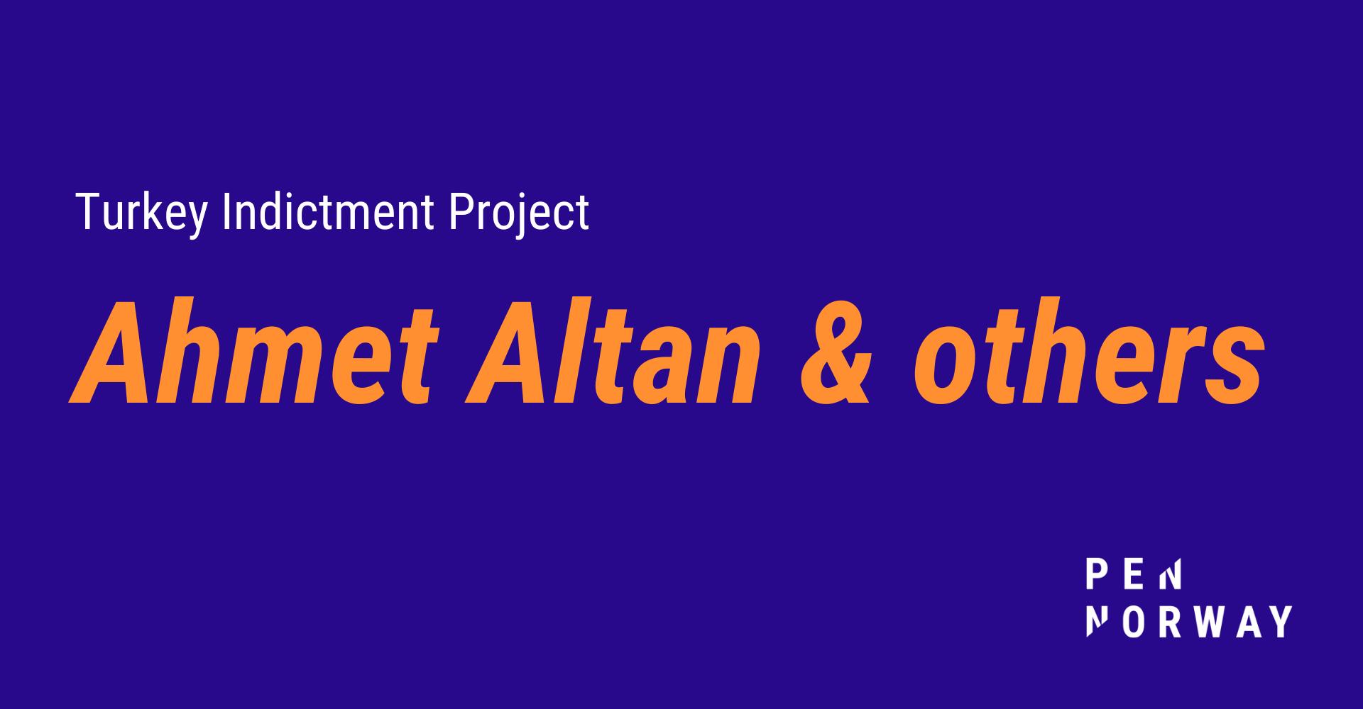Indictment against writer Ahmet Altan examined